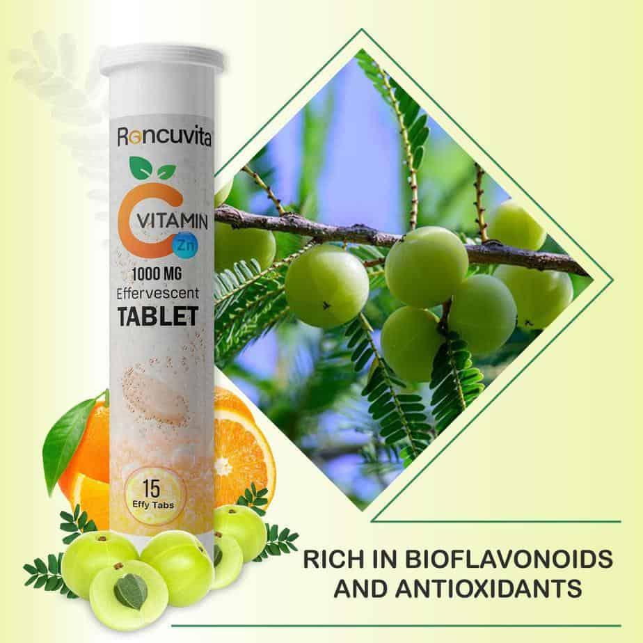 RONCUVITA Natural Vitamin C 1000mg and Zinc - 15 Effervescent Tablets – Roncuvita